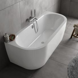Koralle T700 back-to-wall oval bath white / white