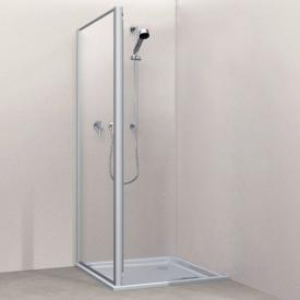 Koralle Twiggy Top shower partition Polyrit aquaperl transparent / matt silver