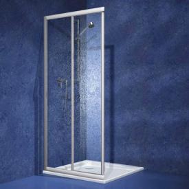Koralle Twiggy Top sliding door corner entry 2-piece Polyrit aquaperl transparent / matt silver