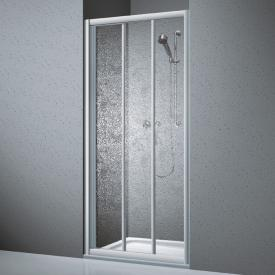 Koralle Twiggy Top shower sliding 3-piece for partition or recess Polyrit aquaperl transparent / matt silver