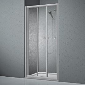 Koralle Twiggy Top shower sliding 3-piece for partition or recess Polyrit aquaperl transparent / matt silver