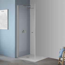 Koralle TwiggyPlus hinged door for corner entry TSG transparent / matt silver