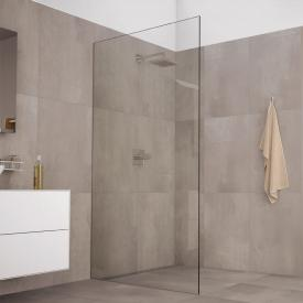 Koralle X88 Free Walk In shower panel, recessed TSG transparent with GlasPlus / silver high gloss