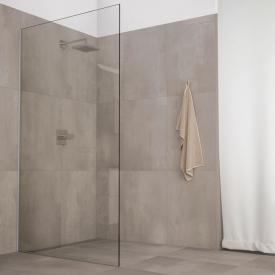 Koralle X88 Free WalkIn shower panel TSG transparent with GlasPlus / silver high gloss