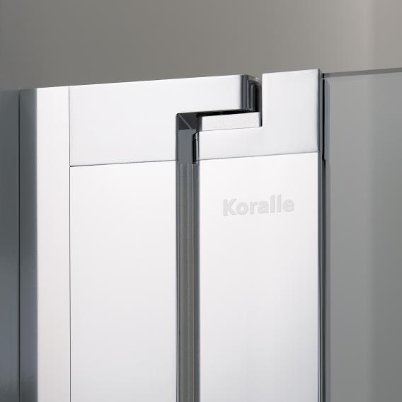 Koralle myDay swing door for recess 2 piece NP2W TSG transparent incl. GlasPlus / matt silver