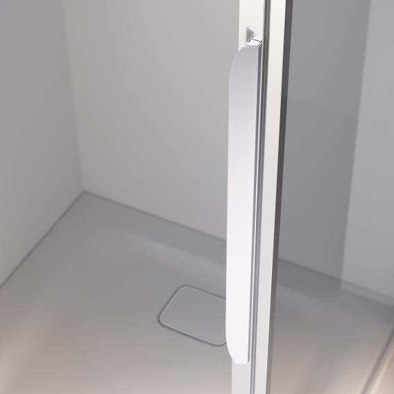 Koralle myDay swing door with fixed element for partition TPFA TSG transparent / matt silver