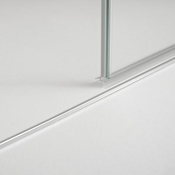 Koralle S800 swing door for partition TSG transparent incl. GlasPlus / silver high gloss