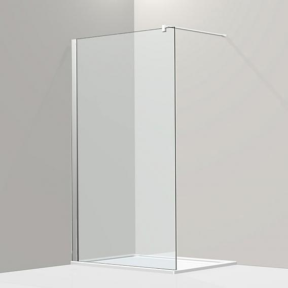 Koralle S800 Walk In TSG transparent incl. GlasPlus / silver high gloss
