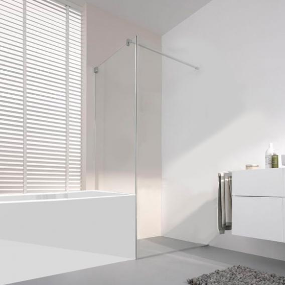 Koralle S808 short partition for swing door TSG transparent / silver high gloss