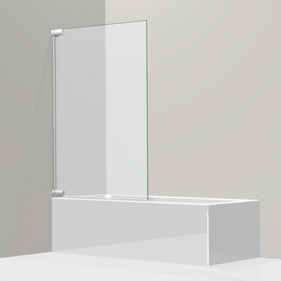 Koralle S808 swing door for bath, 1-piece TSG transparent incl. GlasPlus / silver high gloss