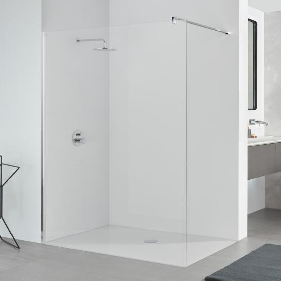 Koralle SL410 walk-in TSG transparent / polished silver