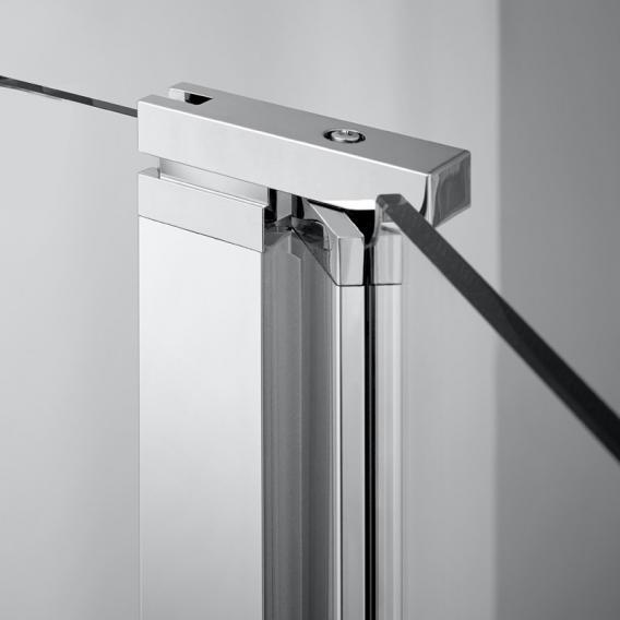Koralle SL410 walk-in with hinged element TSG transparent / matt silver