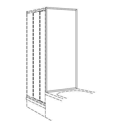 Koralle Twiggy Top shower short partition Polyrit aquaperl transparent / matt silver