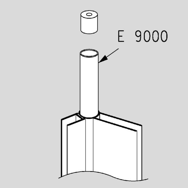 Koralle E2510 / E9000 telescopic bar with round pipe 140 cm