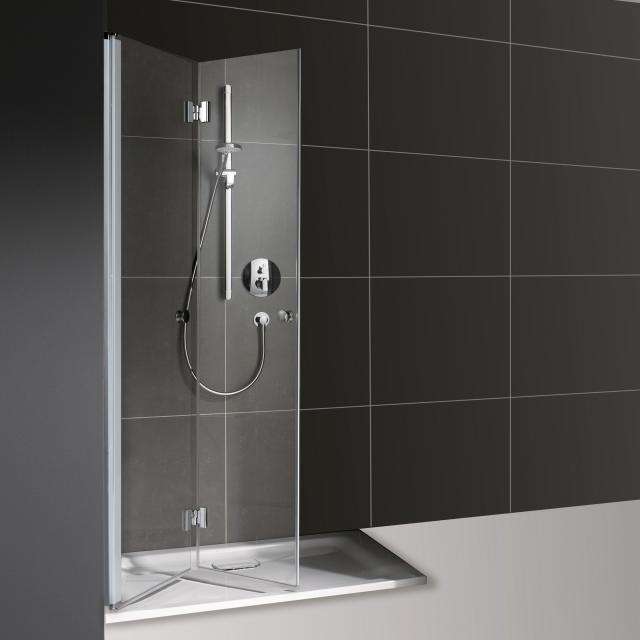 Koralle myDay bi-fold door for partition TSG transparent / matt silver