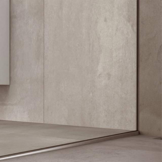 Koralle recessed wall rail for X88 Free WalkIn shower panel