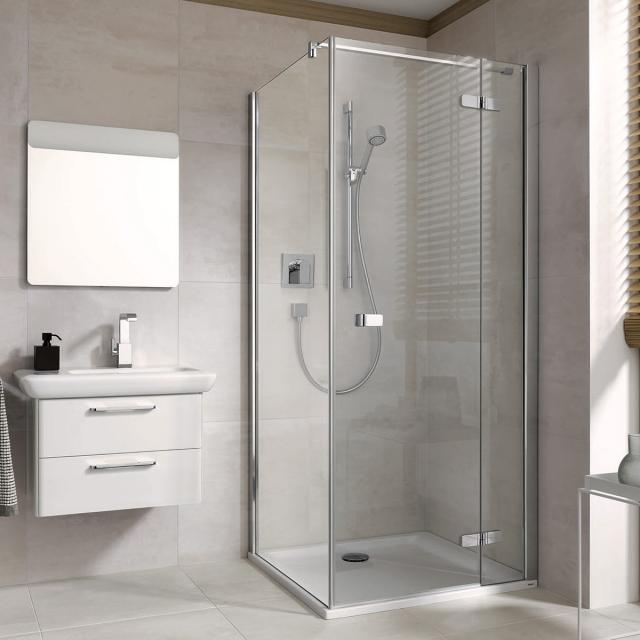 Koralle S500Plus partition for wing door TSG transparent with GlasPlus / polished silver