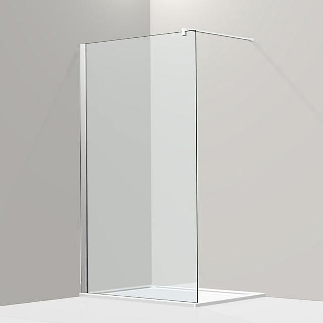 Koralle S800 Walk In TSG transparent incl. GlasPlus / silver high gloss