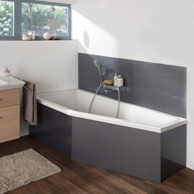 Koralle T200 compact bath, built-in white