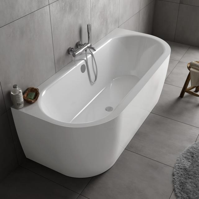 Koralle T700 back-to-wall bath with panelling white / white