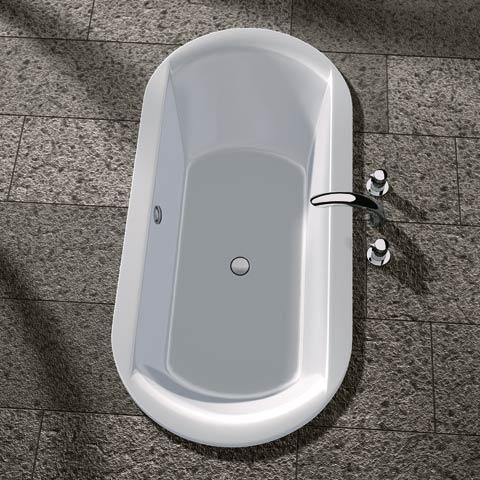 Koralle T700 oval bath, built-in white