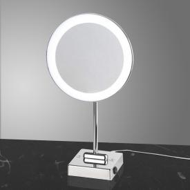 KOH-I-NOOR DISCOLO LED free-standing beauty mirror, 2x magnification, with plug