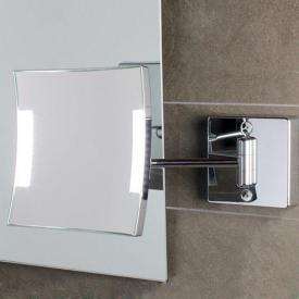 KOH-I-NOOR QUADROLO LED wall-mounted beauty mirror, inflexible arm, tiltable