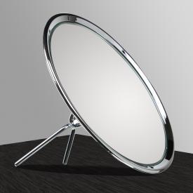 KOH-I-NOOR TOELETTA Miroir cosmétique face simple sur pied avec pied pliant Grossissant 6 fois, chromé
