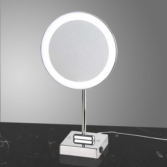 KOH-I-NOOR DISCOLO LED free-standing beauty mirror, 3x magnification, with plug