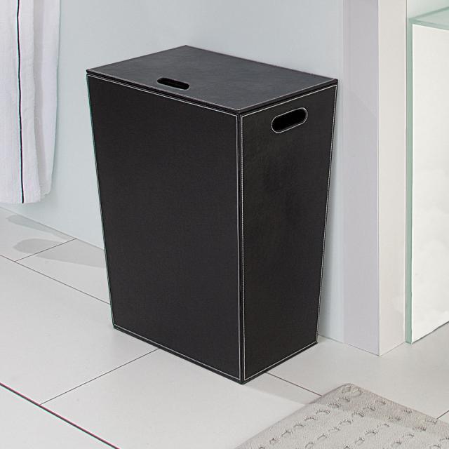 KOH-I-NOOR ECOPELLE laundry basket black