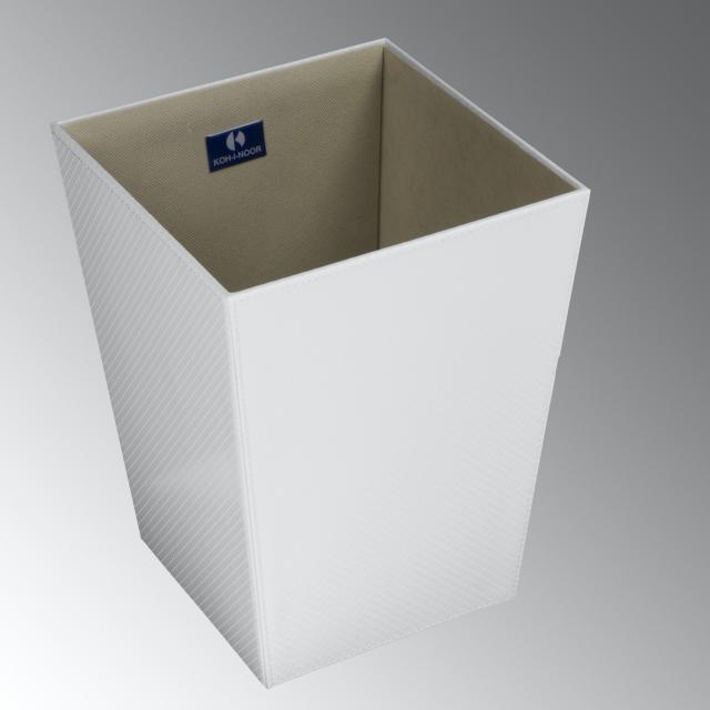 KOH-I-NOOR ECOPELLE waste paper basket metallic white
