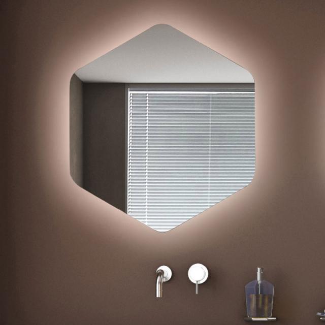 KOH-I-NOOR ESAGONO AMBIENTE mirror with LED lighting