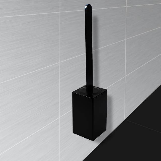 KOH-I-NOOR MATERIA wall-mounted toilet brush set black
