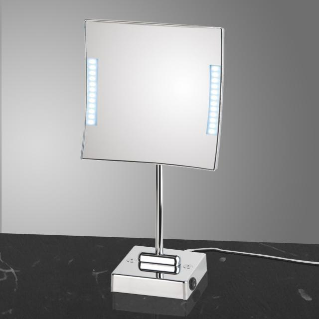 KOH-I-NOOR QUADROLO LED freestanding beauty mirror