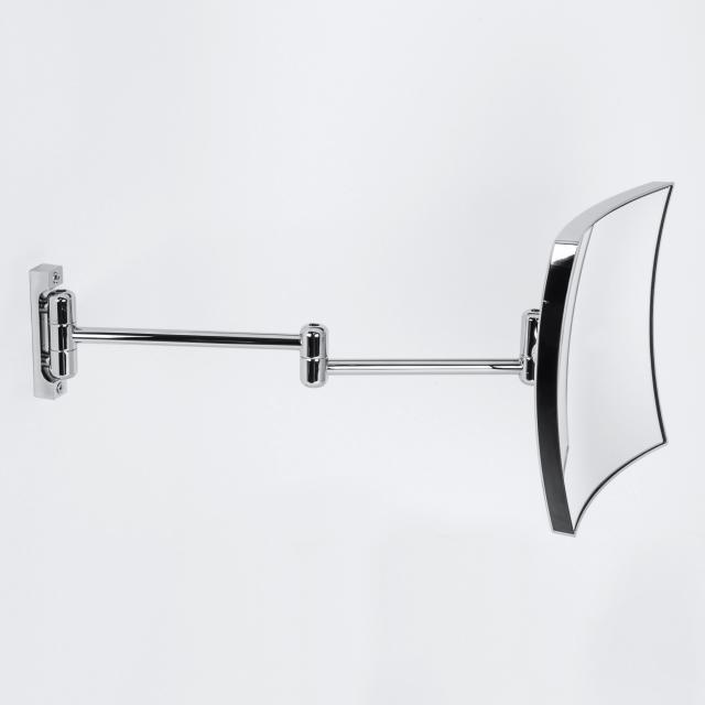 KOH-I-NOOR QUADROLO wall-mounted beauty mirror, P: 460 mm, magnification 3x