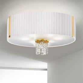 Kolarz Emozione ceiling light with classic crystals, gold 24 K