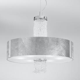 Kolarz Emozione pendant light with modern crystals, chrome