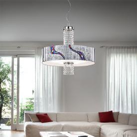 Kolarz Emozione pendant light with klassischen Kristalle, chrome