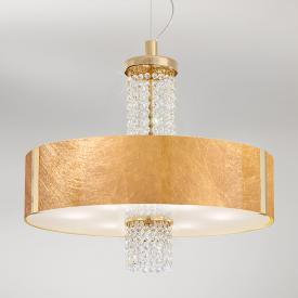 Kolarz Emozione pendant light with classic crystals, gold 24 K