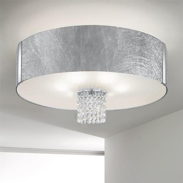KOLARZ Emozione ceiling light with classic crystals, chrome