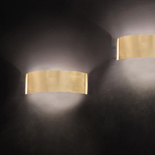 KOLARZ Emozione wall light, gold 24 K