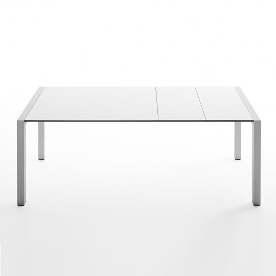 Kristalia Sushi Alucompact dining table with 3 extension leaves