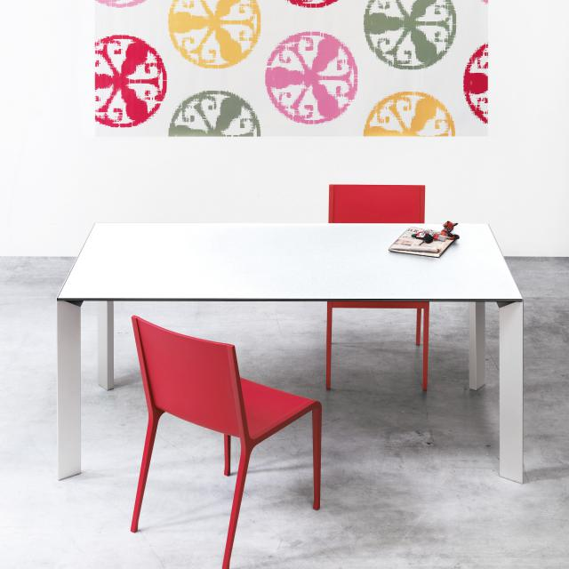Kristalia Nori Alucompact dining table with 2 extension leaves