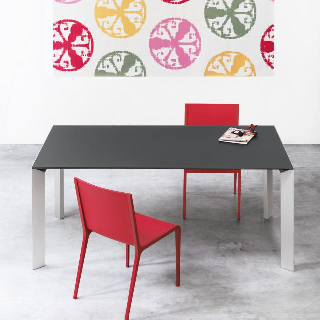 Kristalia Nori Alucompact dining table with 3 extension leaves