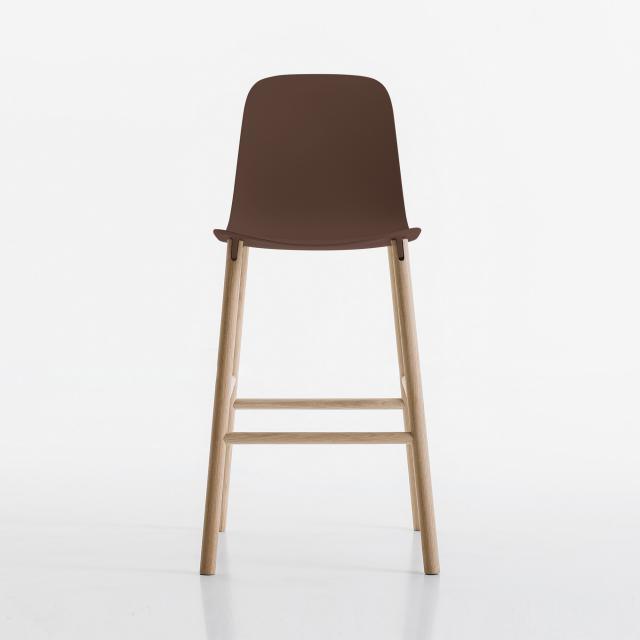 Kristalia Sharky bar stool, solid wood