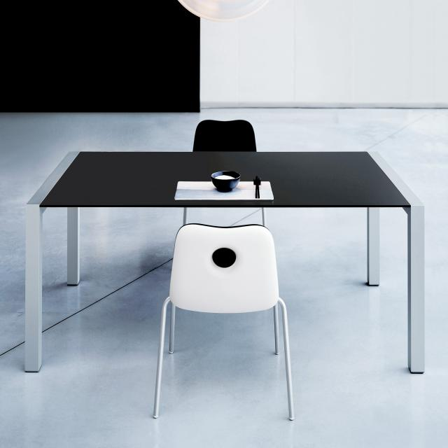 Kristalia Sushi Fenix dining table with 3 extension leaves