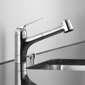KWC Domo single lever kitchen mixer with pull-out spray
