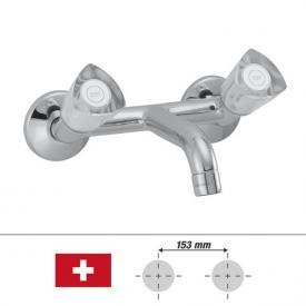 KWC Star wall-mounted two handle basin mixer