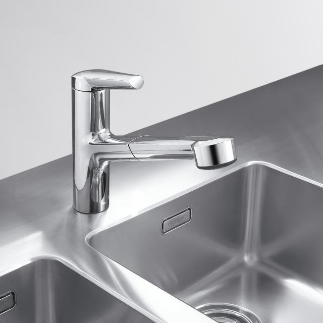KWC Adrena kitchen mixer with pull-out spray Jetclean
