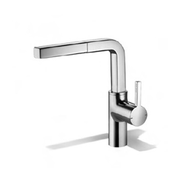 KWC Ava single lever mixer with pull-out spout chrome